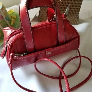 Tommy Hilfiger red purse crossbag handle strap
